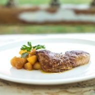 Kachní foie gras s karamelizovanými jablky recept