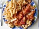 Pangas s česnekovými rajčaty a krutony recept
