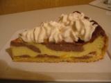 Strakatý tvarohový koláč recept