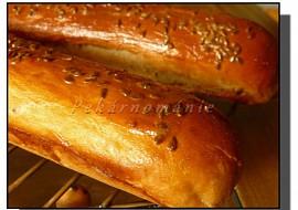 Pšeničné bagetky s 60% celozrnné mouky recept