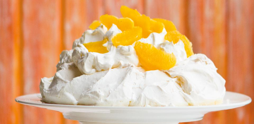 Dort pavlova s pomeranči