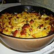 Zapečené šťouchané brambory recept