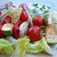 Zeleninové špízy s cuketou recept