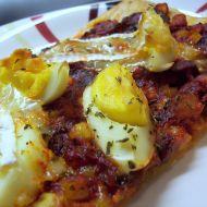 Pizza s houbovou směsí recept