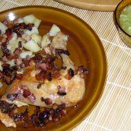 Pečené kuřecí stehno na slanině recept