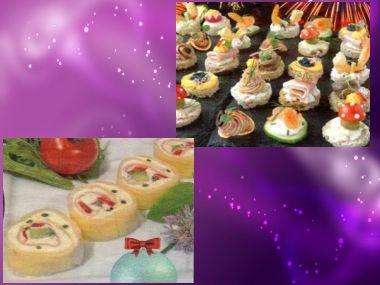 Silvestrovské kanapky a minirolky