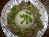 Zelené vepřové nudličky recept
