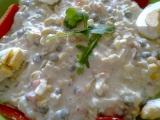 Rychlý salát s kukuřicí, hráškem,květákem a hořčicí recept ...