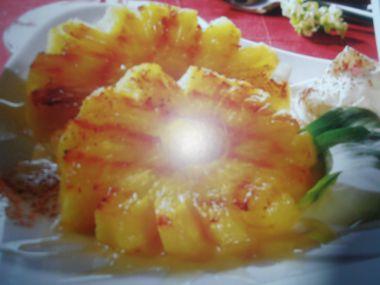 Grilovaný ananas s medem