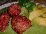 Kuličky z mletého masa se špenátovou omáčkou recept ...