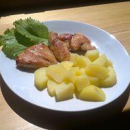 Kuřecí steaky s hořčicovými americkými bramborami recept