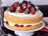 Klasický Viktoriin dort s ovocem recept