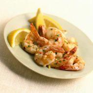 Krevety na sherry a česneku recept