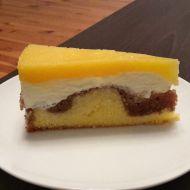 Tvarohový dortík s broskvemi recept