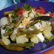 Bramborový salát s fazolkami recept
