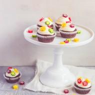 Květinové čokoládové cupcakes recept