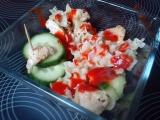 Těstovinový salát s masem a zeleninou recept
