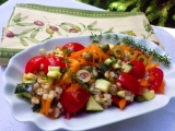 Kroupový salát se zeleninou recept