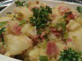 Třepané brambory se slaninou a pórkem recept