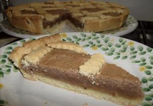 Křehký koláč s kaštanovým pyré