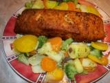 Losos se zeleninou recept