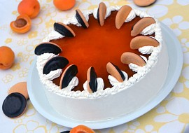 Nepečený jaffa piškotový dort s meruňkovou čokonáplní recept ...