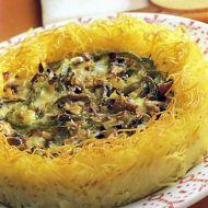 Slaný těstovinový koláč recept