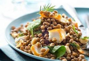 Čočkový salát s treskou