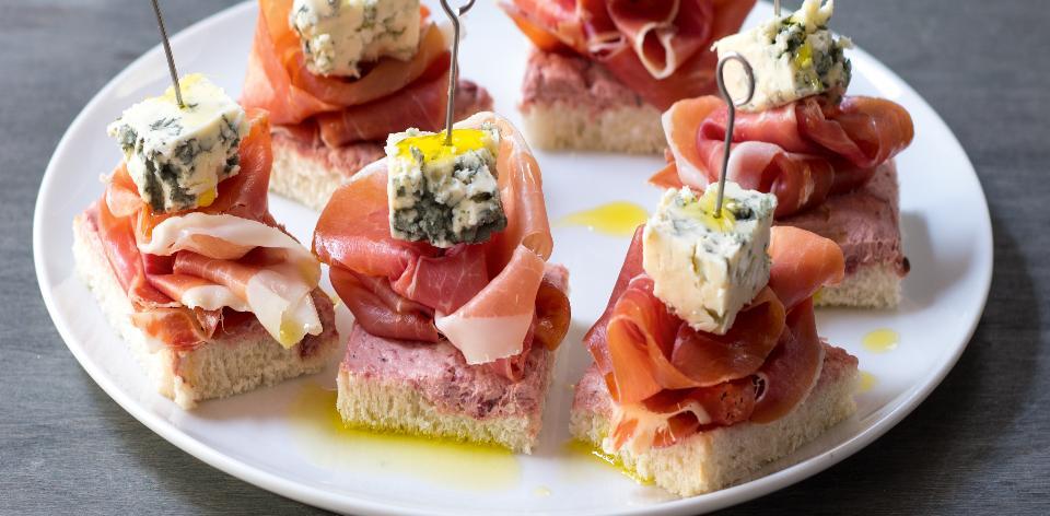 Chuťovky s modrým sýrem