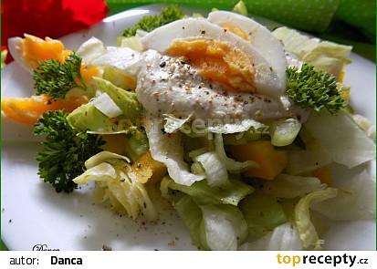 Žluto-zelený salát s tofu zálivkou recept