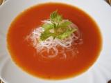 Rajská polévka s řapíkem recept