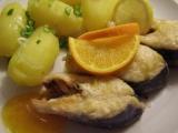Losos na pomerančích recept