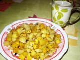 Pečené brambory s oranžovou dýní a bylinkami recept  TopRecepty ...