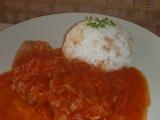 Vepřové plátky v pikantní rajčatové omáčce recept