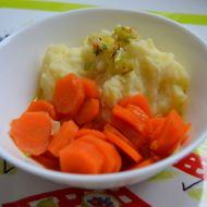Dušená mrkev s bramborovou kaší  dětské menu recept
