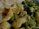 Česnekové kuřecí s hráškem recept