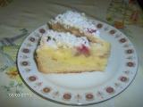 Tvarohový koláč s jahodami a drobenkou recept