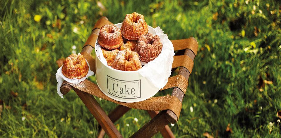 Jablečné bábovičky s javorovým sirupem
