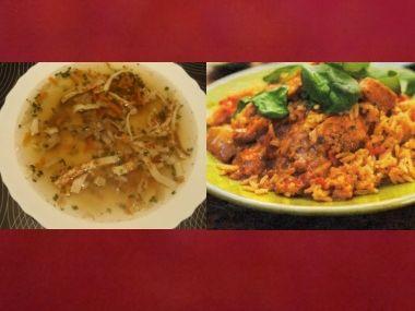 Oběd 50  svítková polévka a pikantní rizoto
