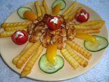 Kuřecí smažené kousky s hranolky recept