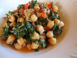 Cizrna s mangoldem a rajčaty recept