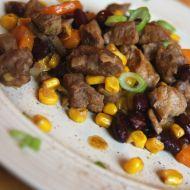 Nudličky z krkovice na zelenině recept