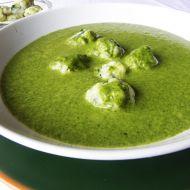 Špenátová krémová polévka s knedlíčky recept
