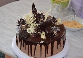 Čokoládovo-šlehačkový dort recept