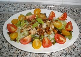 Zeleninový salát s hříbky a kuř.masem recept