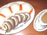 Dvojbarevná masová roláda recept