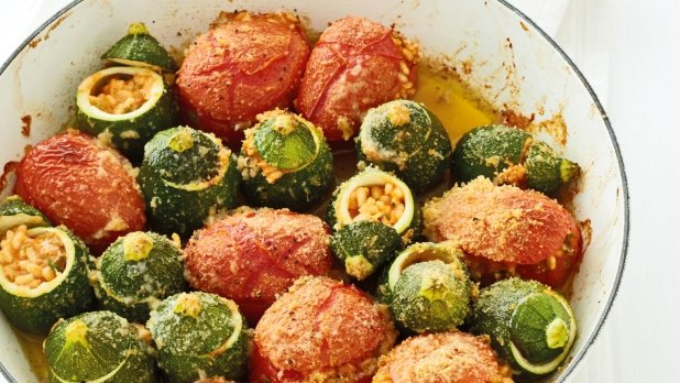 Plněná rajčata a cukety
