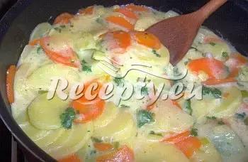 Bramborovo  mrkvová pánev recept  recepty pro děti