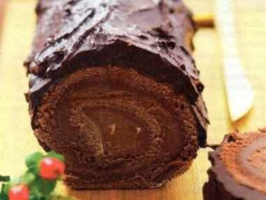 Krémová čokoládová roláda