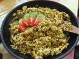 Pilaf z pečeného kuřete recept
